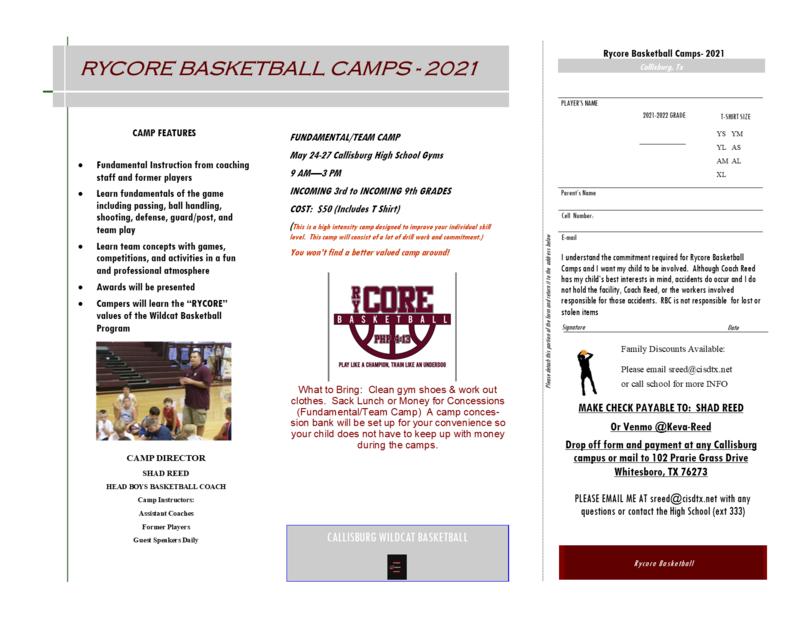 Rycore Basketball Camp