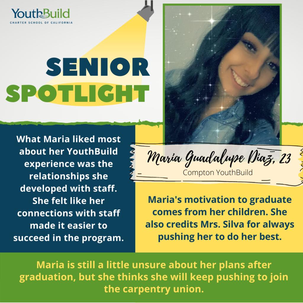 Senior Spotlight for graduate Maria Diaz