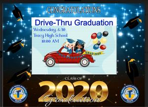 tracy hs drive in graduation notification
