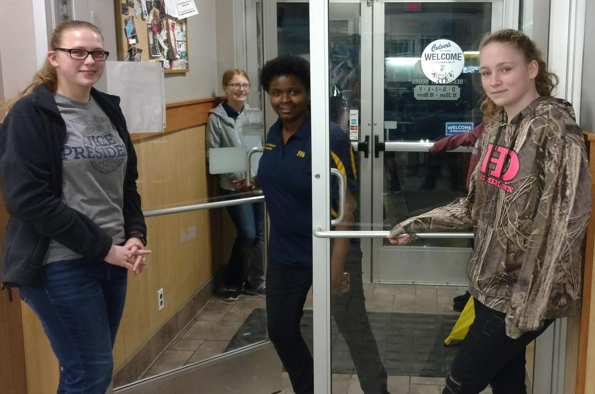 Tending Door at Culver's night