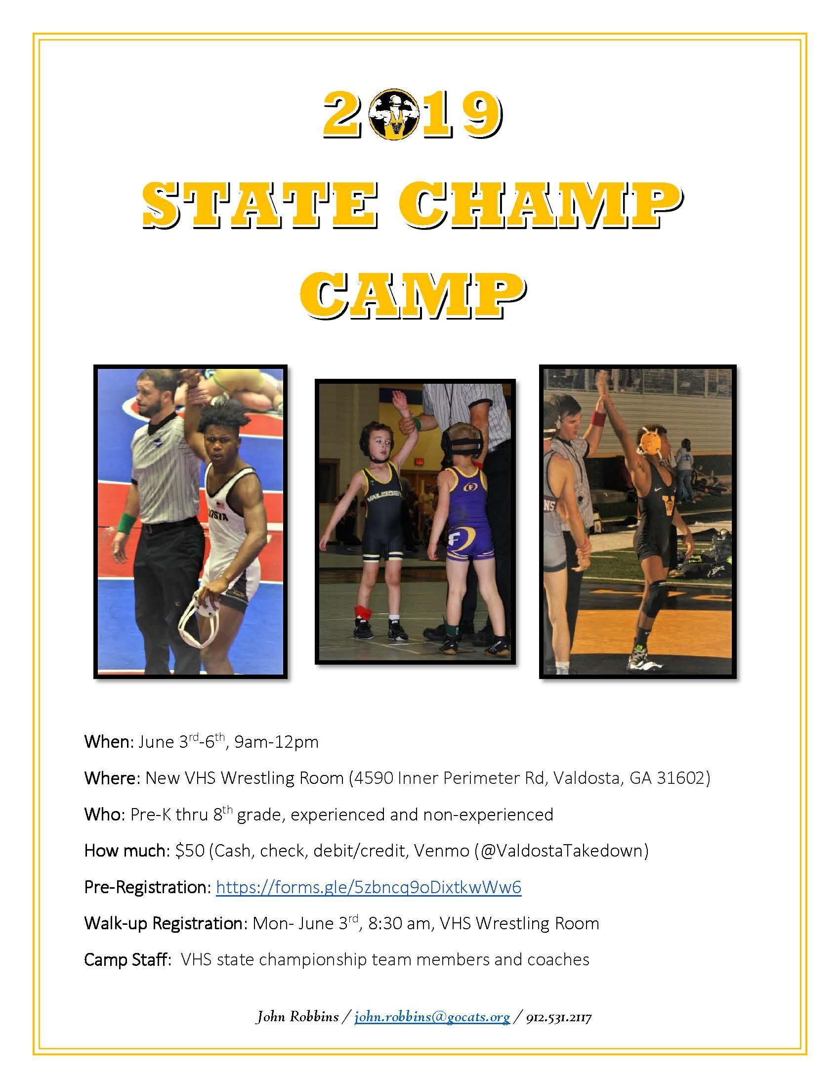 VHS State Champ Camp