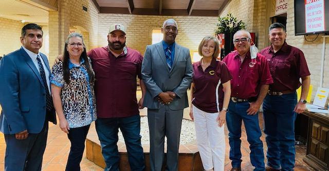CISD Trustees & Coach Booker
