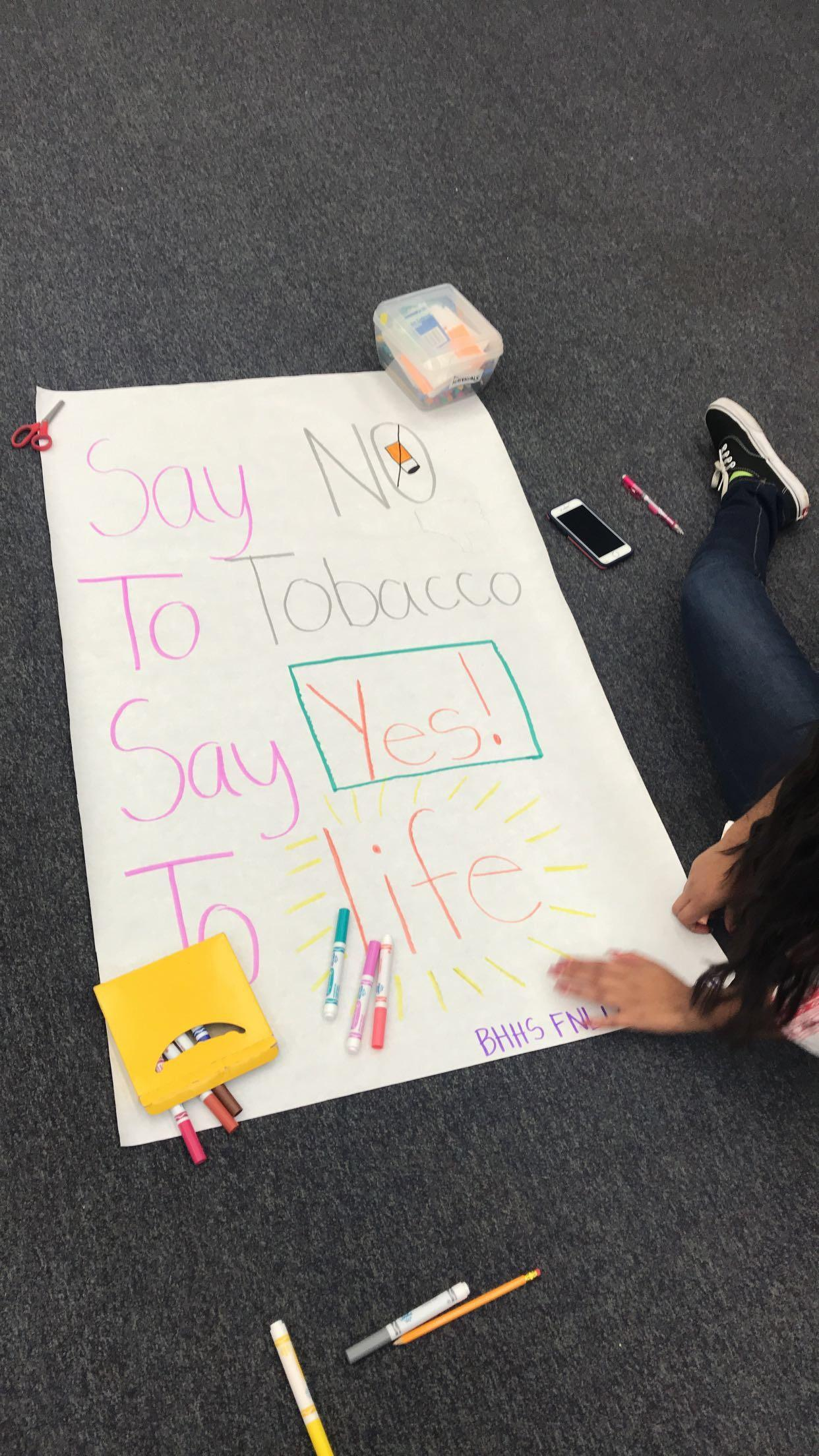 tobacco prevention posters