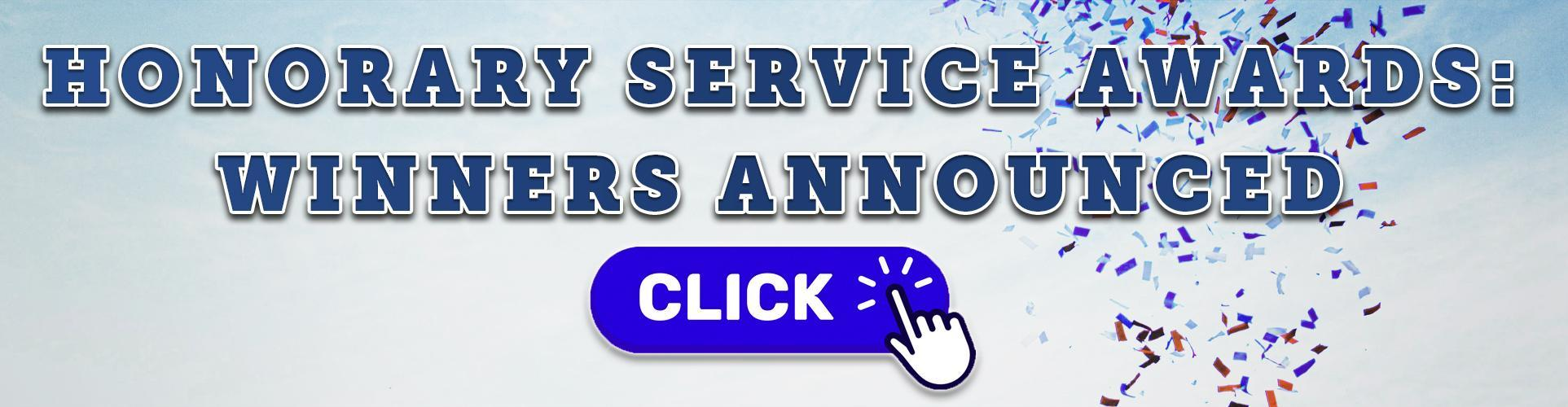 Honorary Service Awards: Winners Announced
