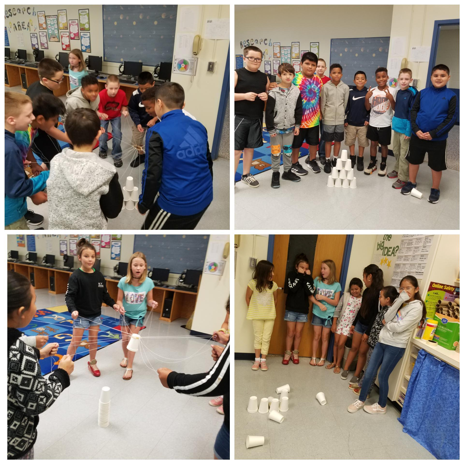 Team building w/ cup towers