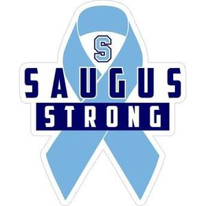 Saugus Strong with Blue Support Ribbon in background
