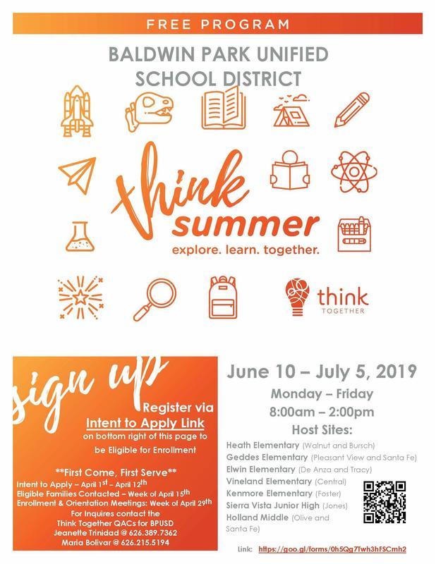 Think Summer flyer