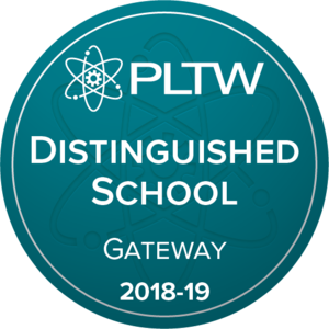 PLTW Distinguished School Badge 2018-19
