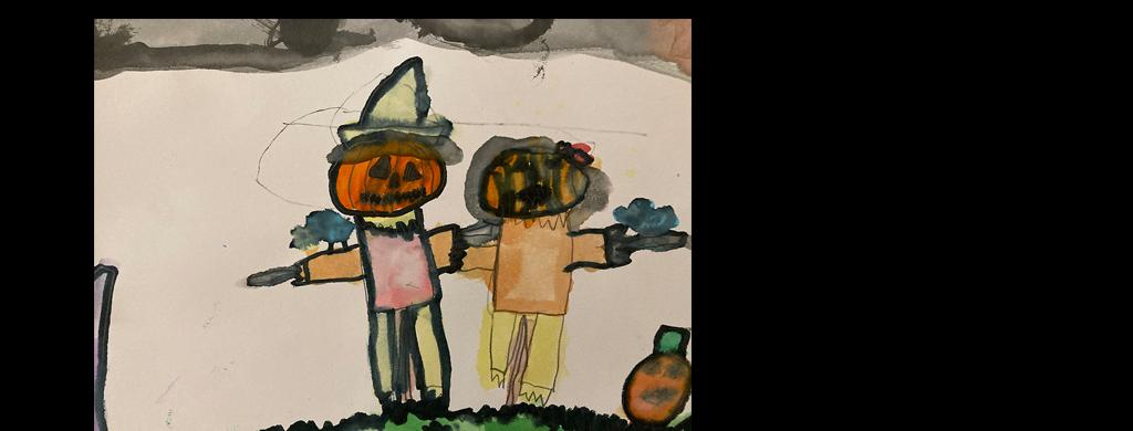 Laurel Elementary Student Pumpkin Art