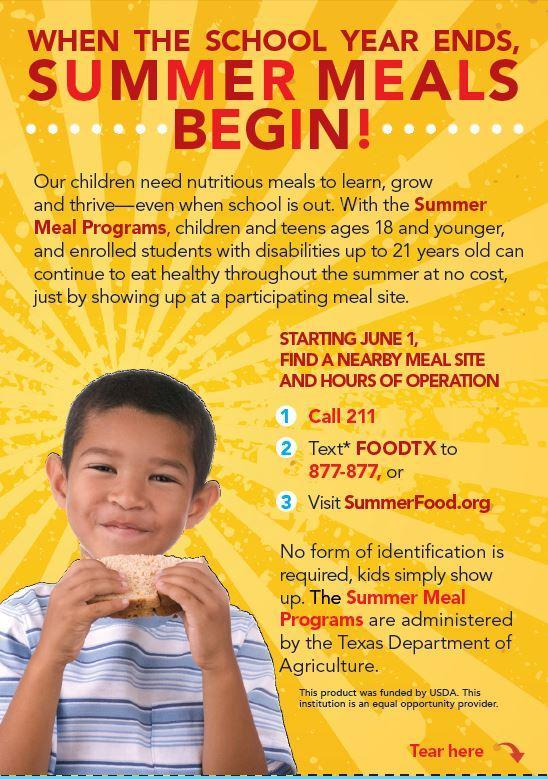 Summer Meals Programs Featured Photo