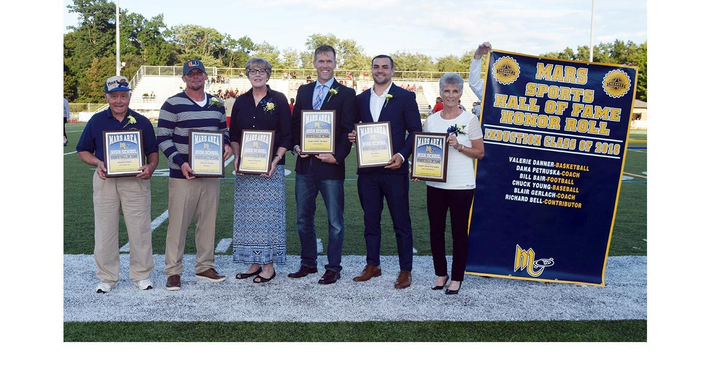 2018 Inductees into the Mars Area High School Sports Hall of Fame