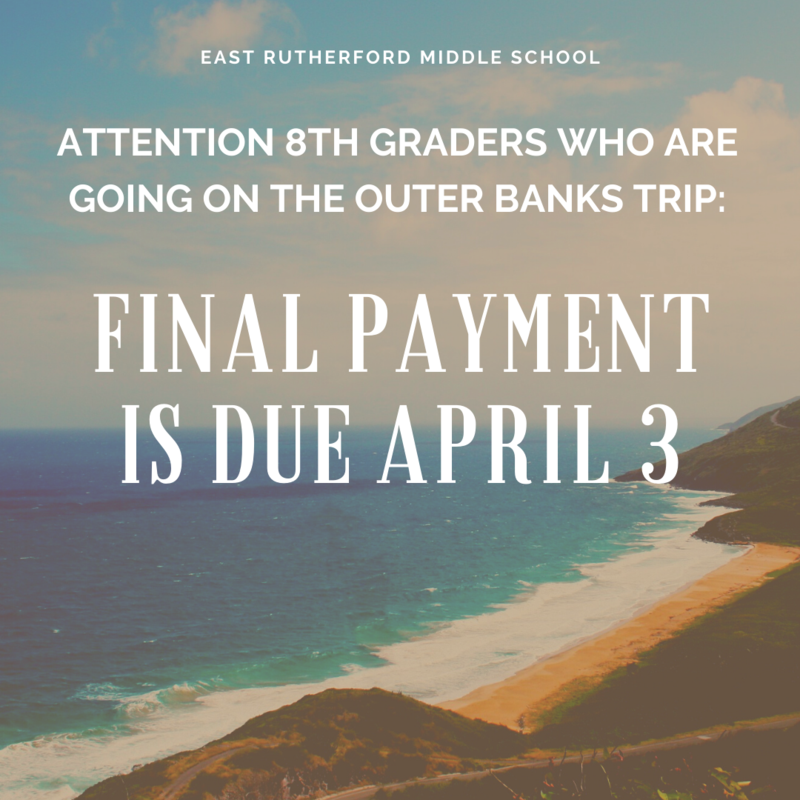 8th Graders: Final Outer Banks Payment is Due Featured Photo