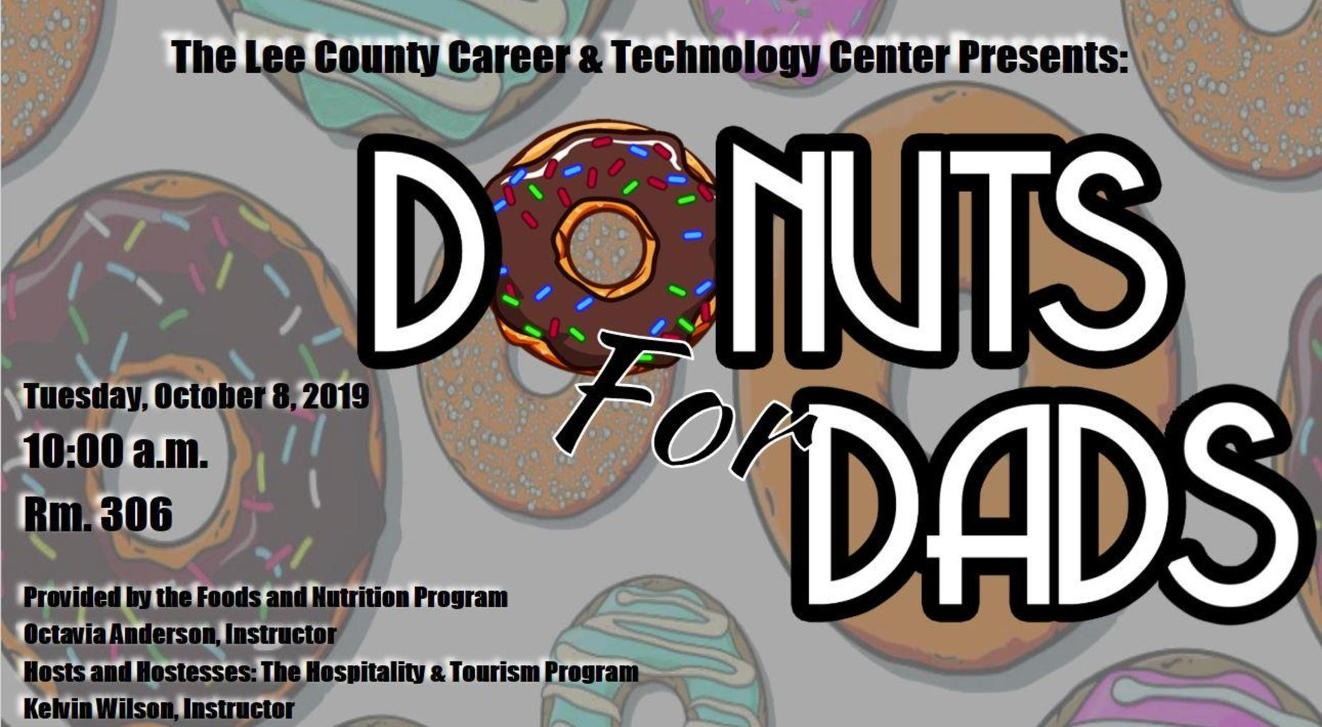 donuts for dads flyer