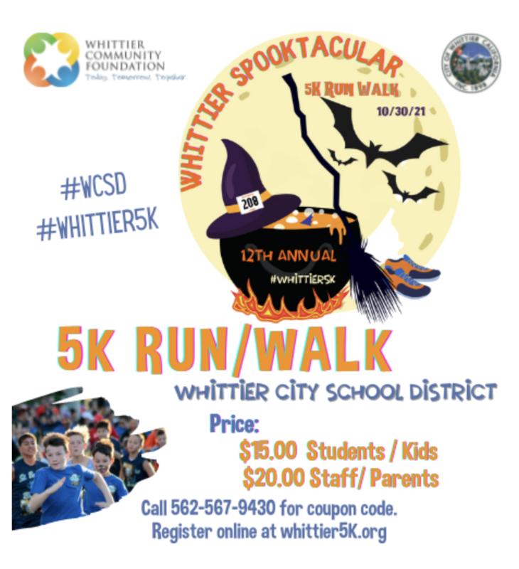 5K Run/Walk flyer