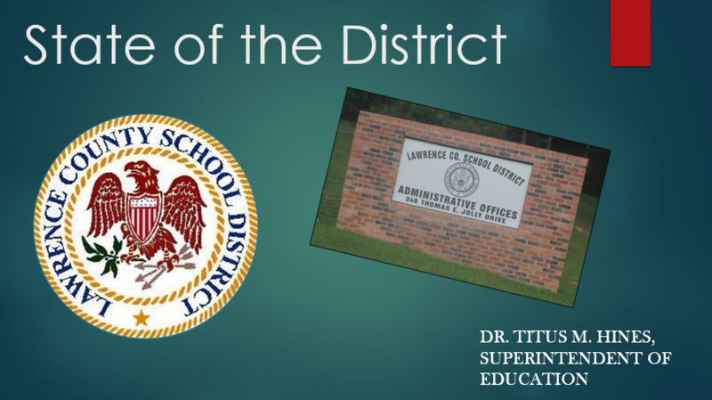 State of the District Title Slide