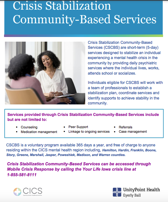 Crisis Stabilization Community-Based Services
