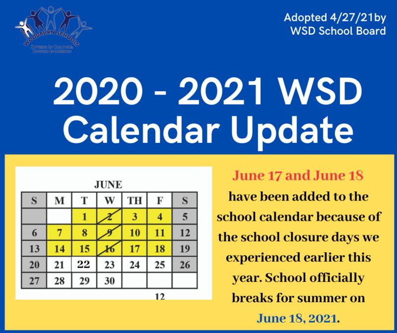 Woodburn School District Calendar Update Featured Photo
