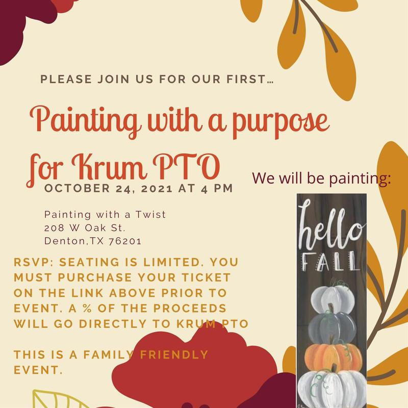 painting with a purpose for krum pto infographic