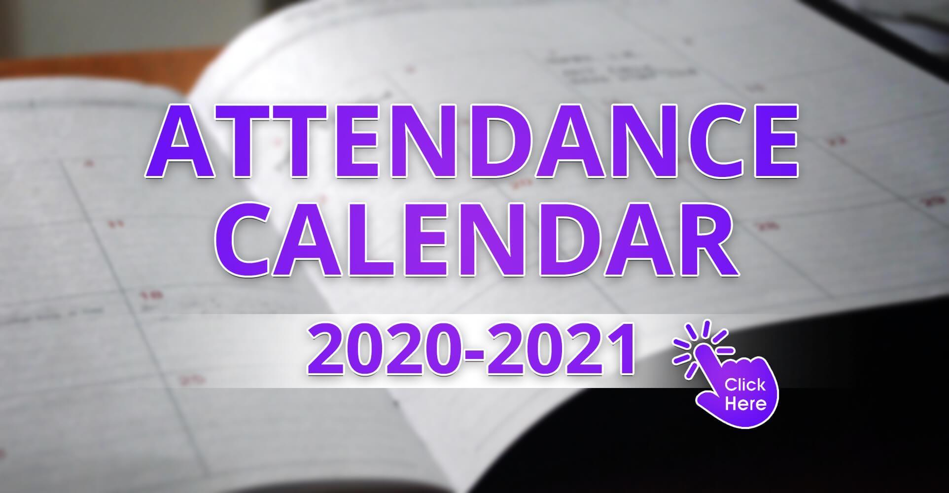 Attendance Calendar (2020-2021)