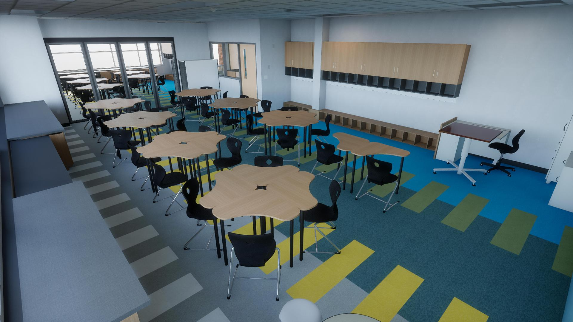 Concept photo of Classroom (back view)