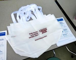 Tote bags with the Census logo