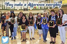 "Tweet of staff photo with the text: ""They Make a Difference Everyday"""