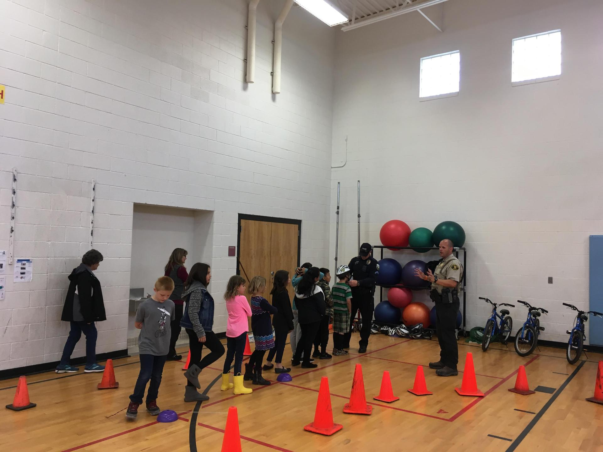 Students at bike rodeo