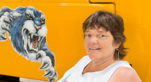 Image of bus drive Rhonda Jones