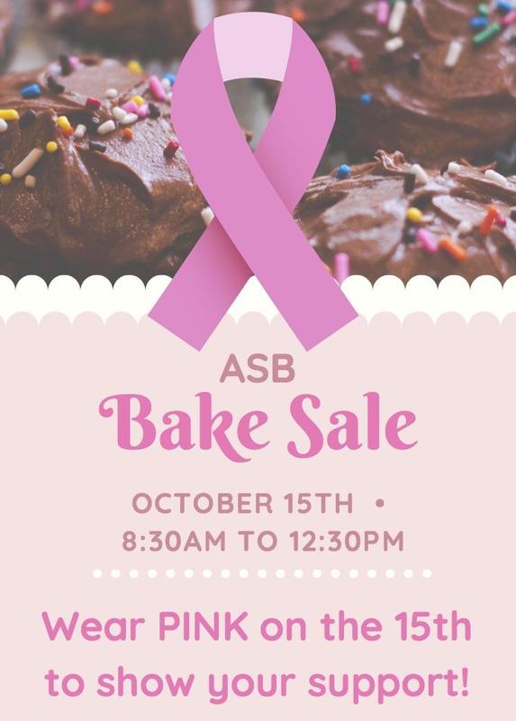ASB Bake Sale flyer