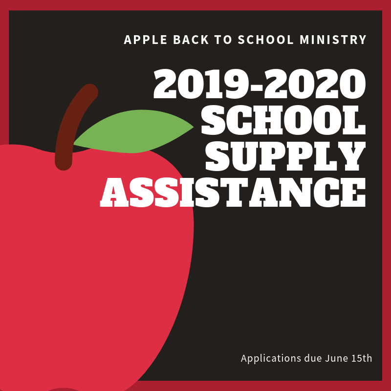 2019-2020 School Supply Assistance Thumbnail Image