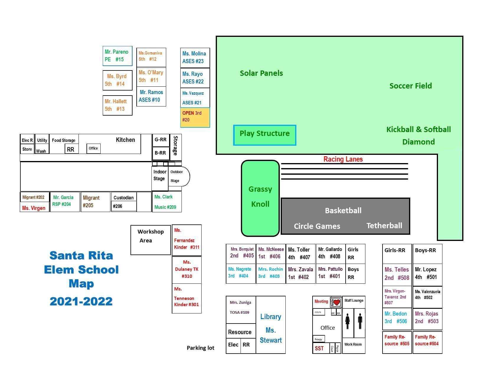 SRES Campus Map 2021-2022 School Year