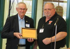 Founding member and  past president of the alumni association, Don Williamson, was recoznized for his outstanding contributions to the organization.