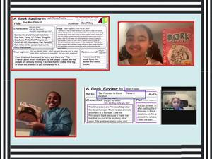 2 girls showing books and book reviews collage