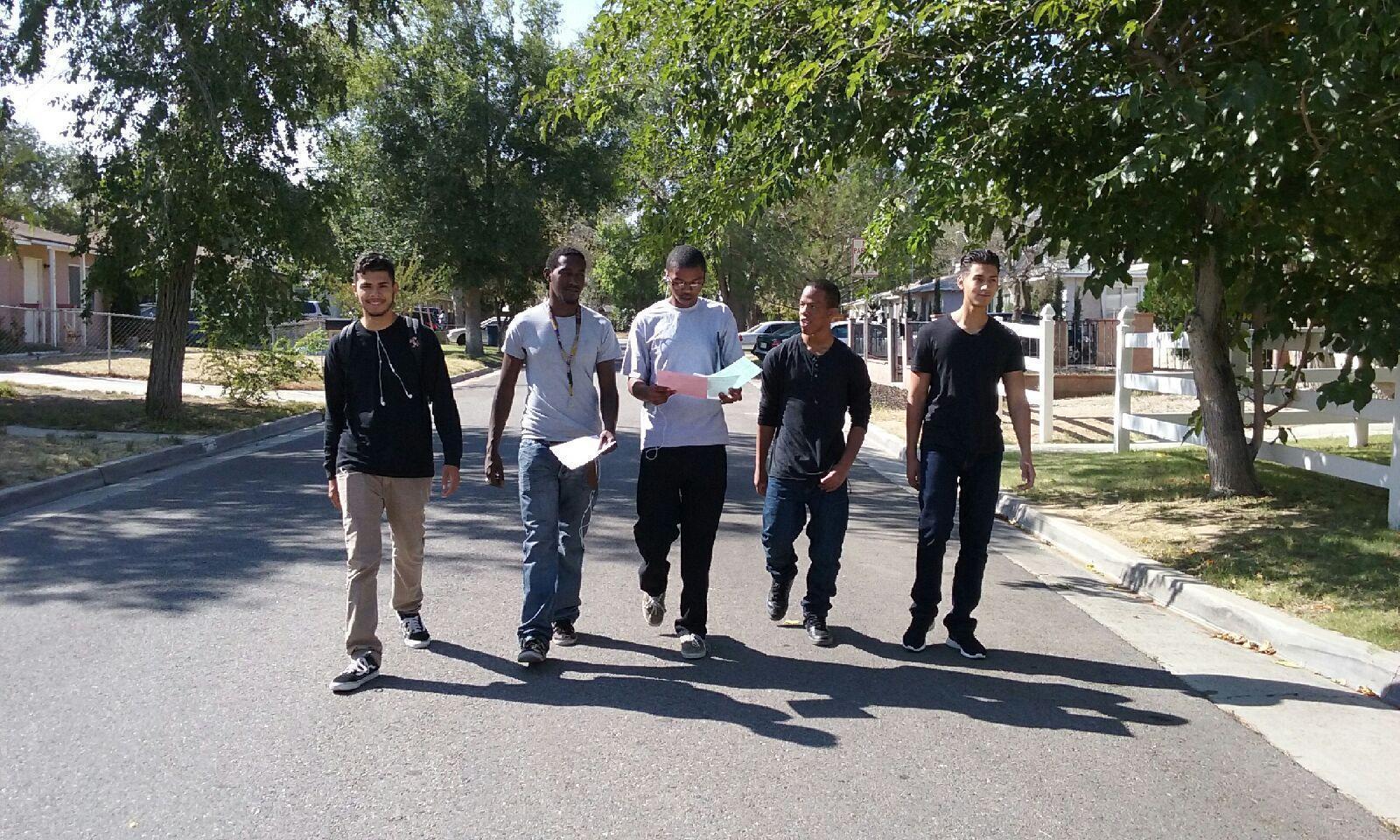Palmdale students survey their community