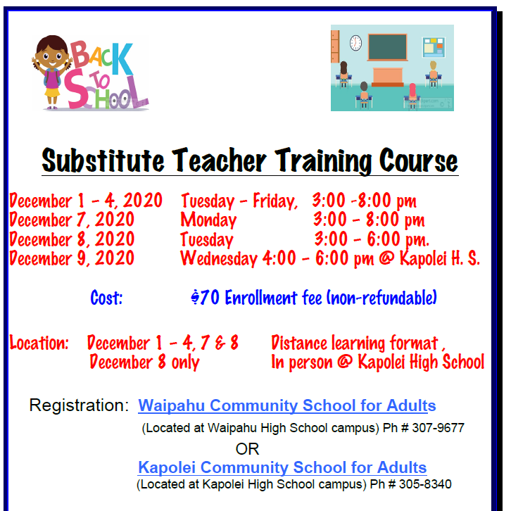 Substitute Teacher Training Course Updated Featured Photo