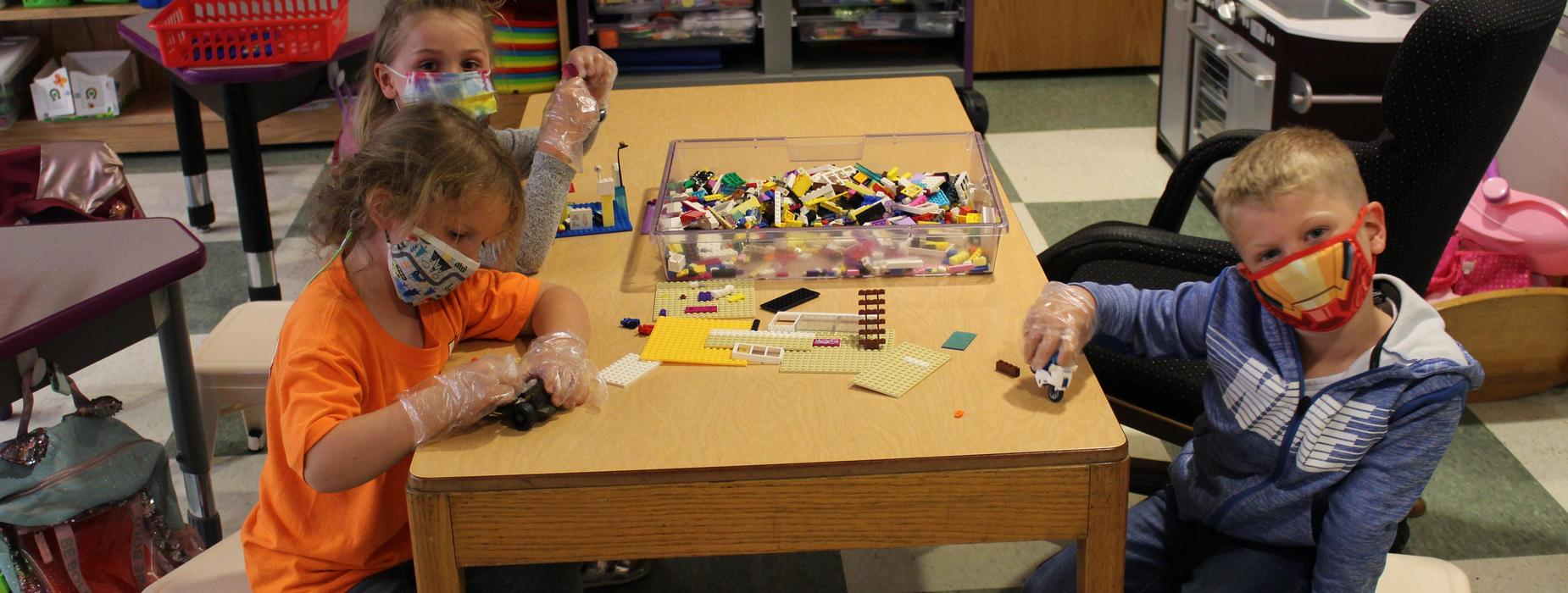 PreK students playing during recess