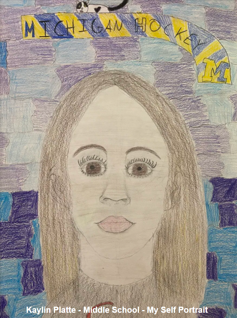 Kaylin Platte - Middle School - Self Portrait