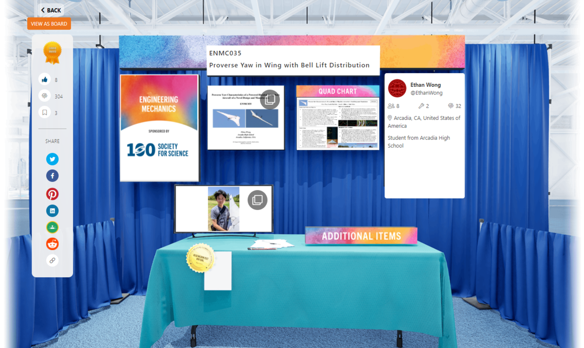 Ethan's virtual science booth