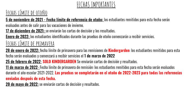 spanish deadlines