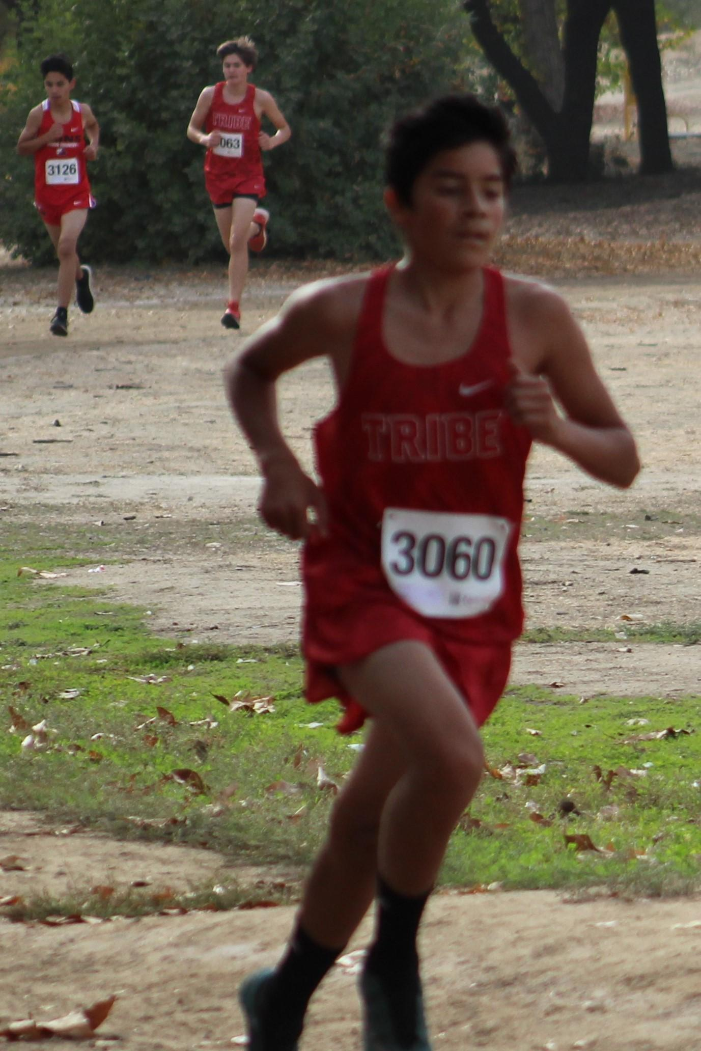 Issac Rivera leading the race