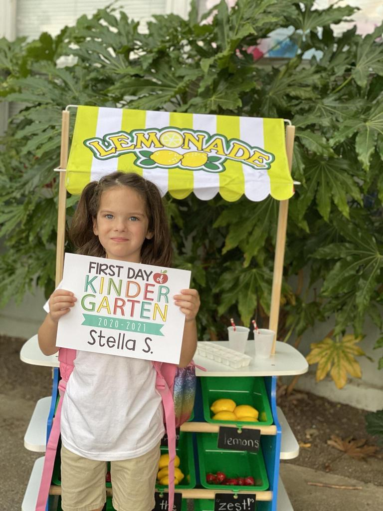 kindergartener stella s making lemonade out of lemons