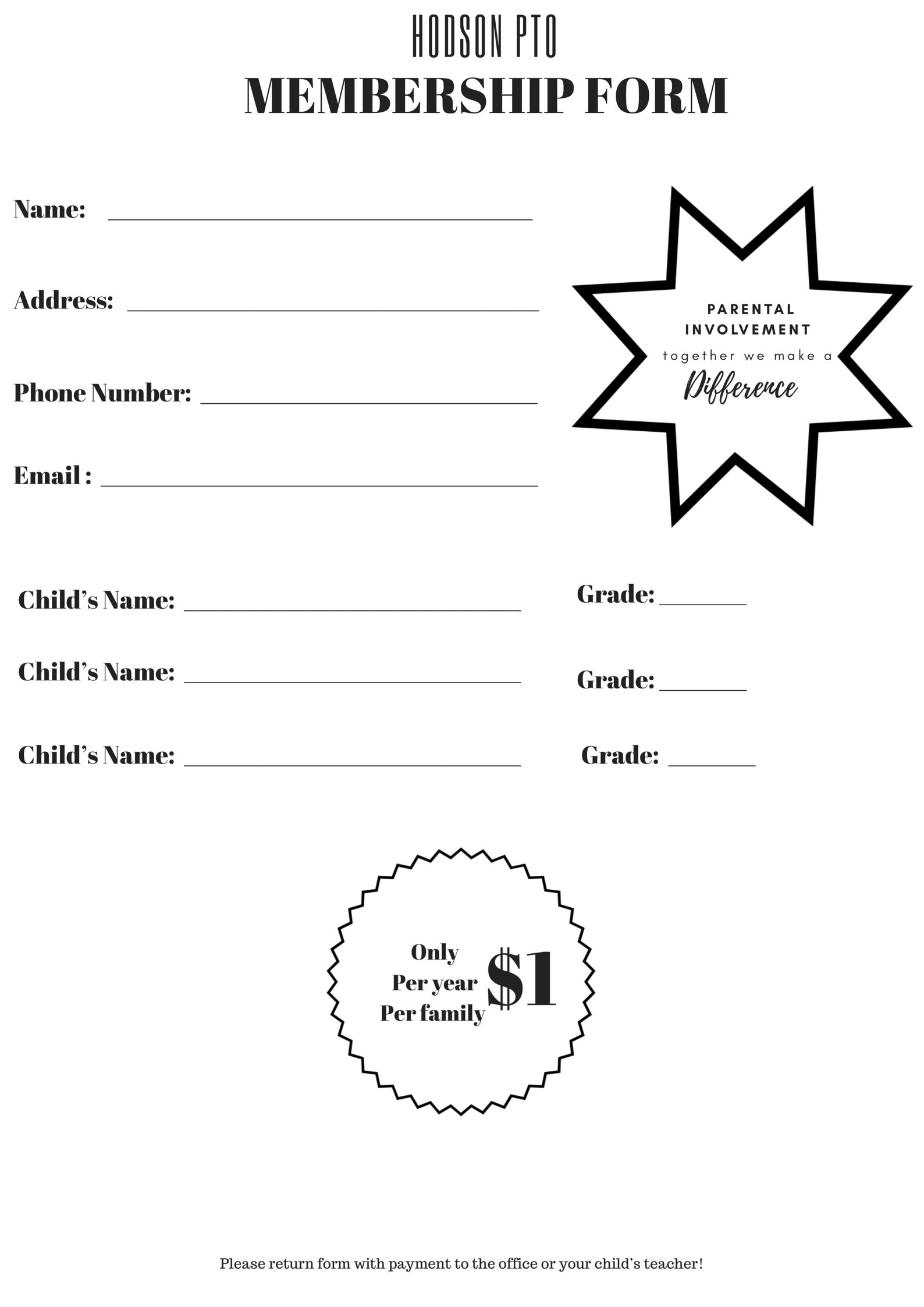PTO Membership Form
