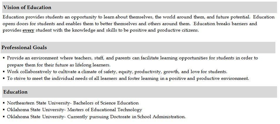Vision of Education