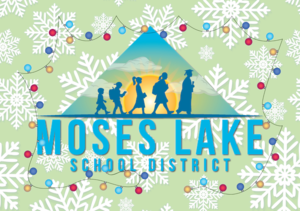 MLSD Logo with holiday lights and snowflakes