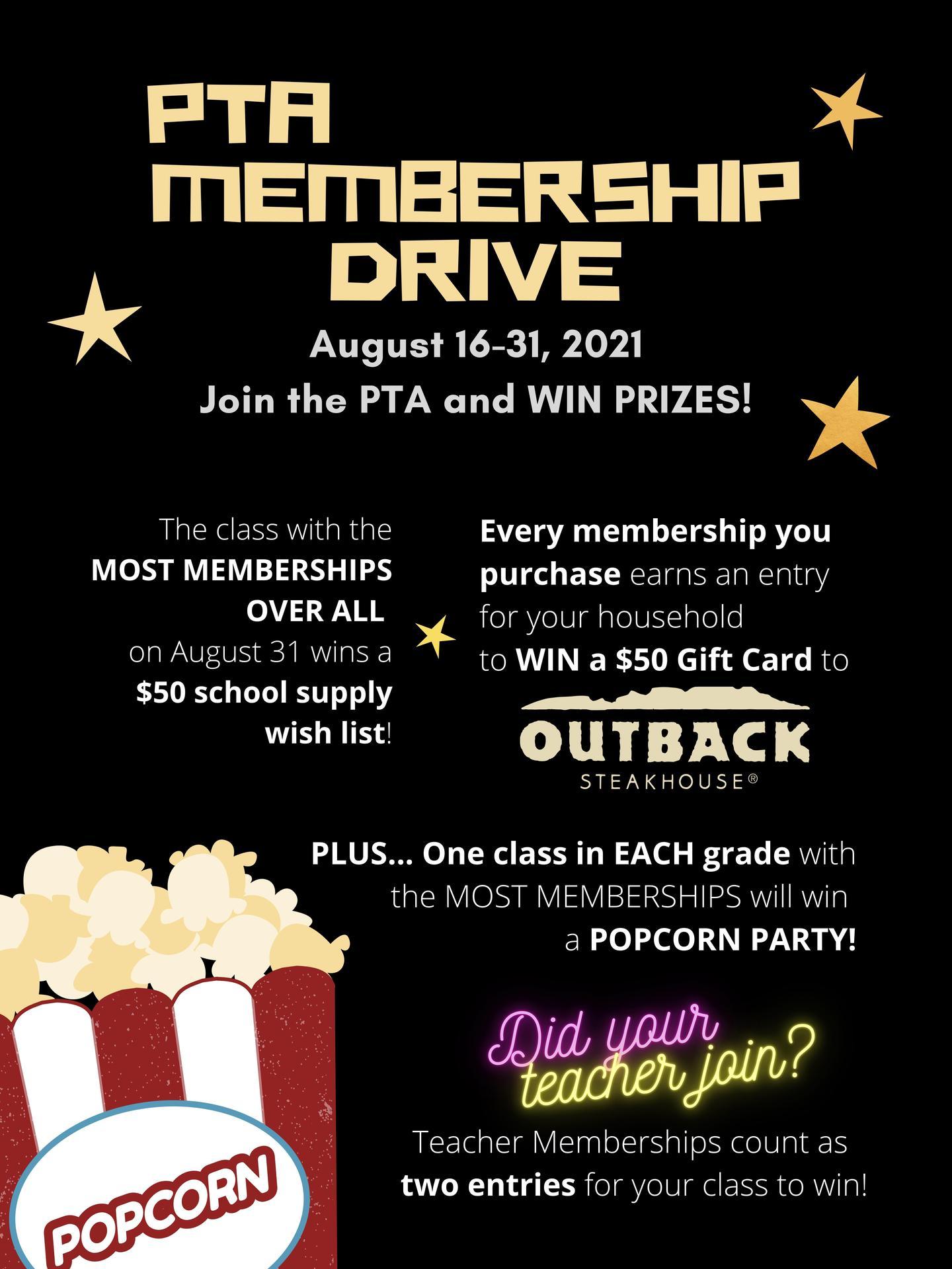 PTA Membership Drive Flyer