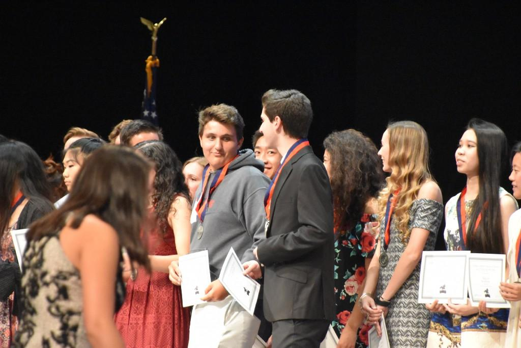Students receiving Senior Awards