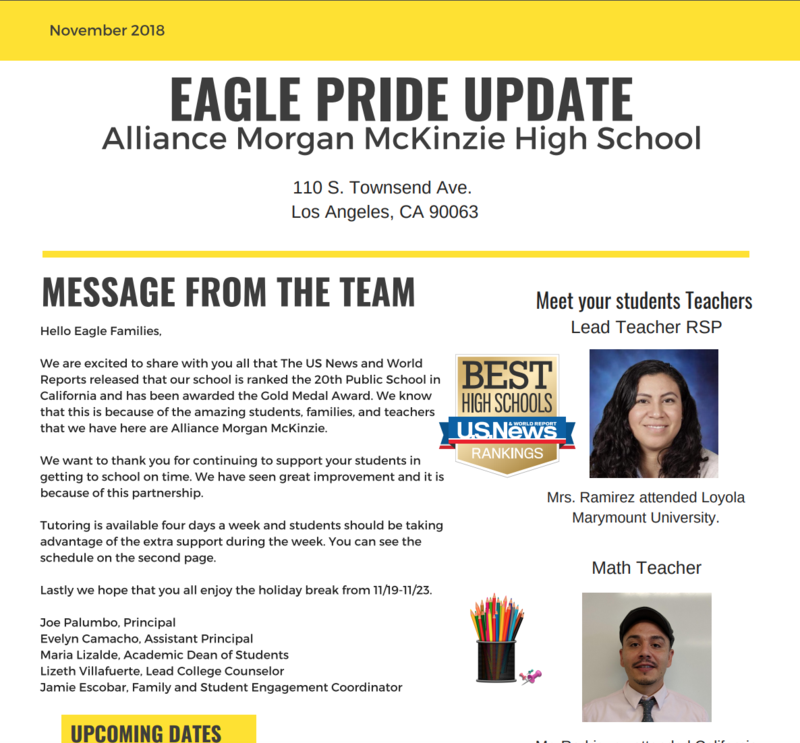 Eagle Pride Update: November Thumbnail Image