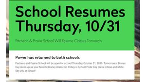 School Open 10/31