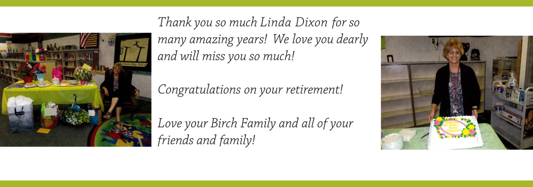 Linda Dixon Retirement