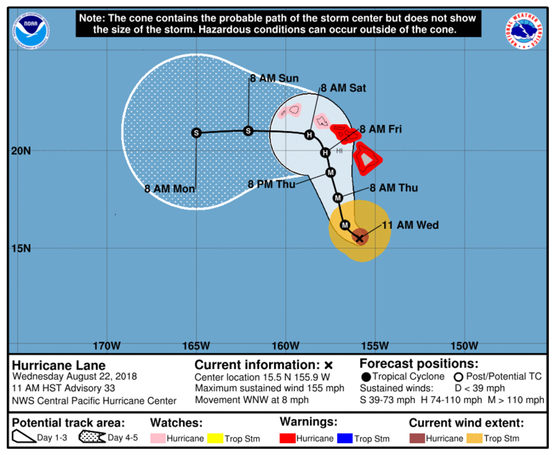 Hurricane Lane Update #2 - SCHOOL CLOSURES Featured Photo